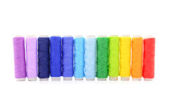 Set of colorful spools of thread Royalty Free Stock Image