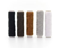 Set of colorful spools of thread Stock Images