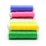 Set of colorful spools of thread Royalty Free Stock Photo