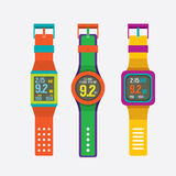 Set Of Colorful Sport Watches Royalty Free Stock Photo