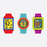 Set Of Colorful Sport Watches Stock Images
