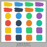 Set of colorful spots Stock Photos