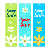 Set of colorful spring season sale banner in vertical Stock Photo