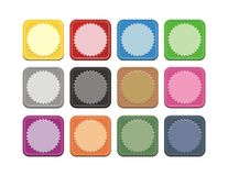 Set of colorful square button Stock Photo