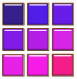 Set of colorful square buttons Stock Image