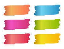 Set of colorful stains in painting brush style Royalty Free Stock Image