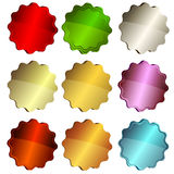 Set colorful star labels Stock Image