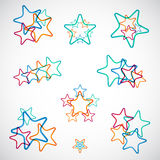 Set of Colorful Stars Royalty Free Stock Images