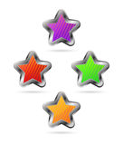 Set of colorful stars Royalty Free Stock Photos