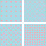 Set of 4 colorful stars backgrounds Stock Photos