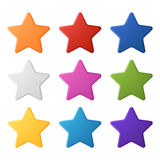 Set of Colorful Stars. Set of simple colorful stars, EPS 10 Royalty Free Stock Photo