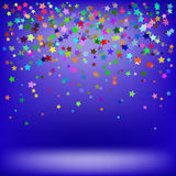 Set of Colorful Stars Stock Image