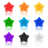 Set of colorful stars on a white background Royalty Free Stock Images