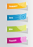 Set of colorful stickers Royalty Free Stock Photo