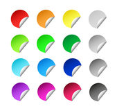 Set of colorful stickers Royalty Free Stock Image