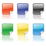 Set of colorful stickers Stock Images
