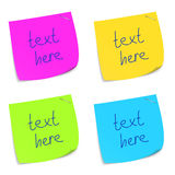 Set of colorful sticky memo notes. Vector eps10 illustration Stock Photography