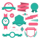 Set of colorful stitched elements Royalty Free Stock Image