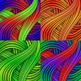 Set of Colorful striped backgrounds. Stock Photography