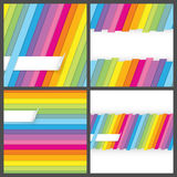 Set of colorful striped seamless backgrounds Royalty Free Stock Photos