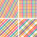 Set of colorful striped seamless patterns Royalty Free Stock Photo