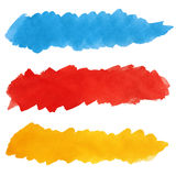 Set of colorful strokes of paint brush Stock Photography