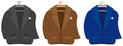 Set colorful suit jacket Stock Photo