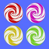 Set of Colorful Sweet Candy. Isolated on Blue Background Stock Photos