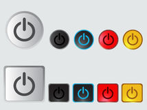 Set of colorful Switch Buttons. Vector Illustration. Royalty Free Stock Photography