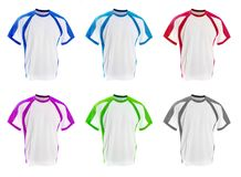 Set of colorful T-shirts Royalty Free Stock Photography