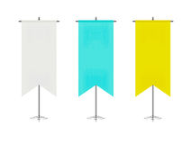 Set of colorful table flags Stock Photography