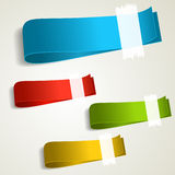Set of colorful tag labels Stock Photos