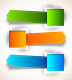 Set of colorful tags Stock Photo