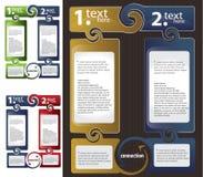 Set of Colorful Text Box Stock Photos
