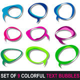 Set of colorful text bubbles Royalty Free Stock Photo
