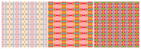 Set of colorful textile patterns and backgrounds Stock Image