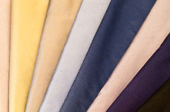Set of colorful textiles. Set of various colorful silk or satin textiles Royalty Free Stock Photo