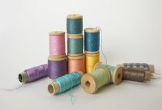 A set of colorful threads Royalty Free Stock Photos