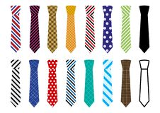 Set of colorful ties. Vector royalty free illustration