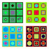 Set of colorful tiles Stock Photography