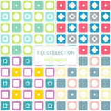 Set of colorful tiles patterns Stock Photography