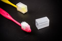 Set of colorful toothbrush Royalty Free Stock Photo