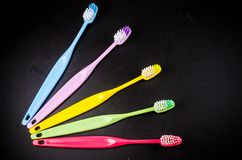 Set of colorful toothbrushs Royalty Free Stock Photography