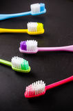 Set of colorful toothbrushs Stock Image