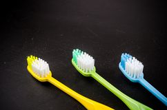 Set of colorful toothbrushs Royalty Free Stock Images