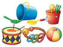 Set of colorful toys Stock Photo