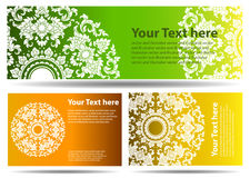 Set of 3 colorful traditional banners with space for text Stock Image