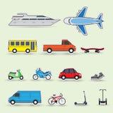 Set of colorful traffic vehicles, stickers. Illustartion stock illustration