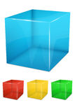Set of colorful transparent cubes Stock Image