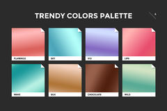 Set of colorful trendy gradient template Stock Photo